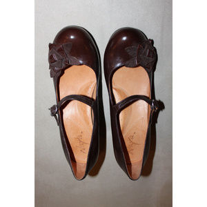 NAYA Cara Mary Jane Block Heels Brown Shoes 7.5